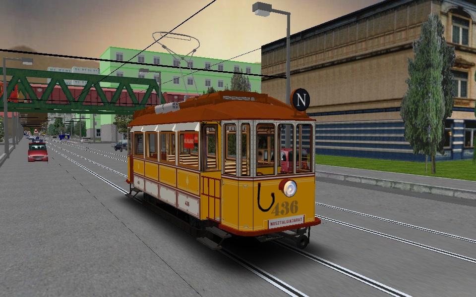 Schlick 436-os pályaszámú villamos a menvári 24-es vonalon